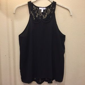 Adorable Black and Lace Top